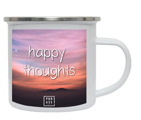happy thoughts | Emaille Becher