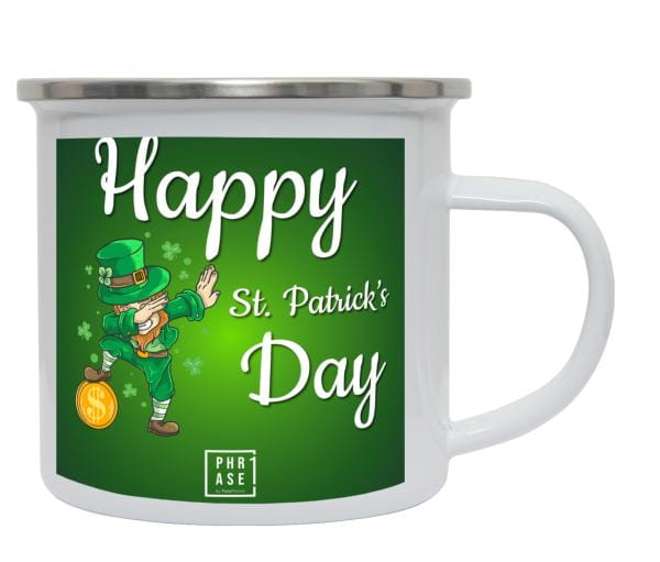 Happy St. Patrick's Day   Emaille Becher