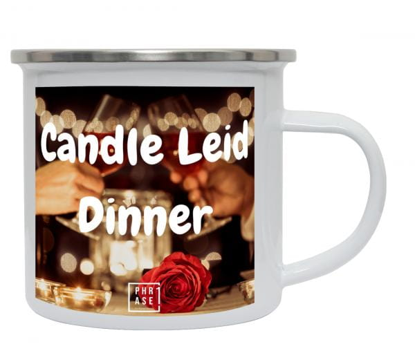 Candle Leid Dinner   Emaille Becher