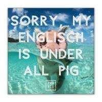 Sorry, my englisch is under ... | Leinwand