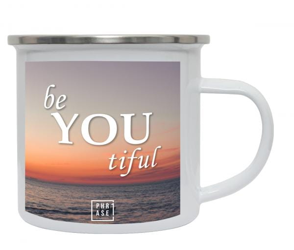 be YOU tiful   Emaille Becher