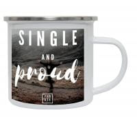 Single and proud⠀ | Emaille Becher