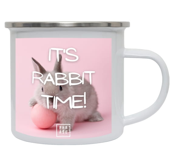 Its Rabbit Time! | Emaille Becher