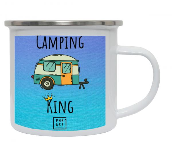 Camping King | Emaille Becher