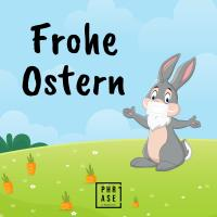Frohe Ostern 2   Emaille Becher