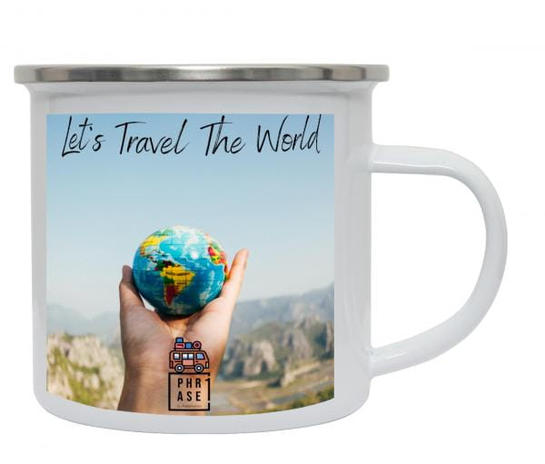 Let's Travel the World | Emaille Becher